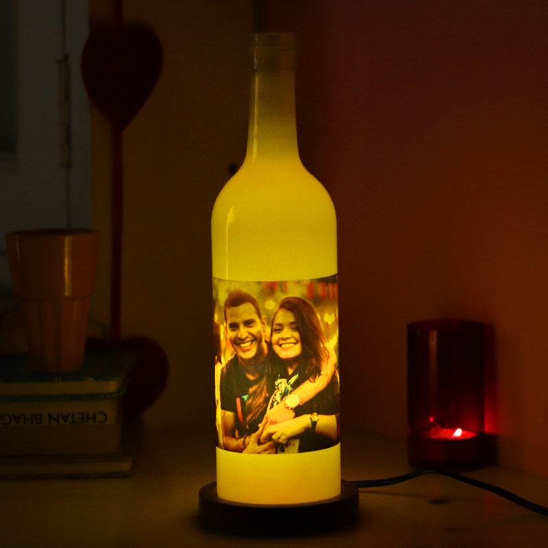 Personalized Bottle Lamp Gift for Valentine Day
