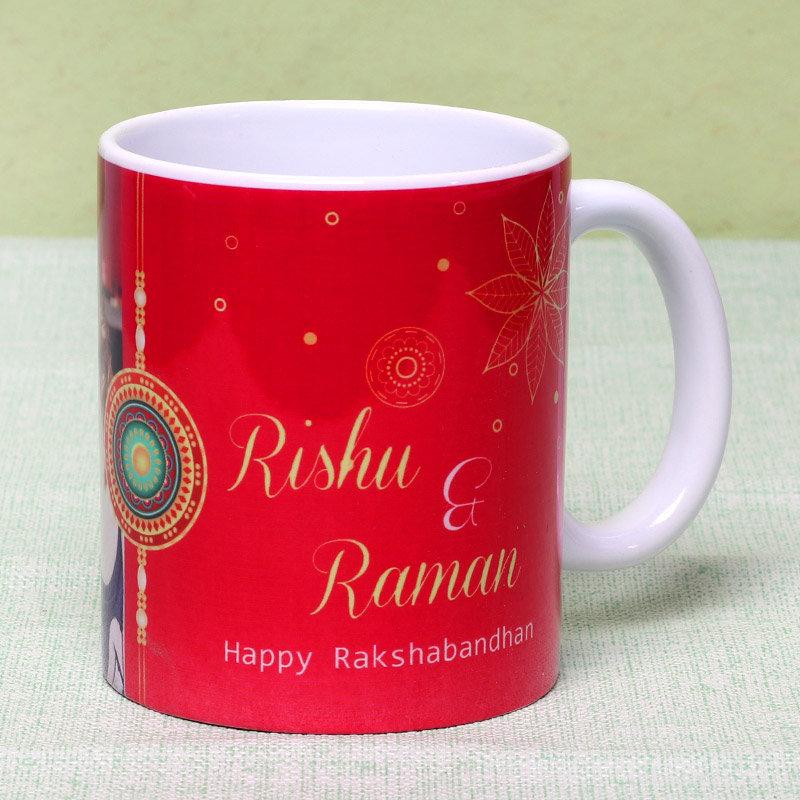 Personalised Bro Sis Rakhi Combo