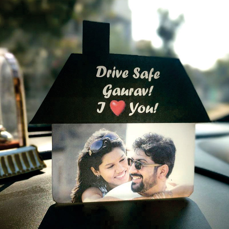 Personalized Dashboard Accessory - Acrylic and Laminated Print
