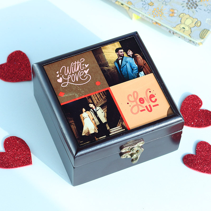Hand Made Personalized Box with Chocolates