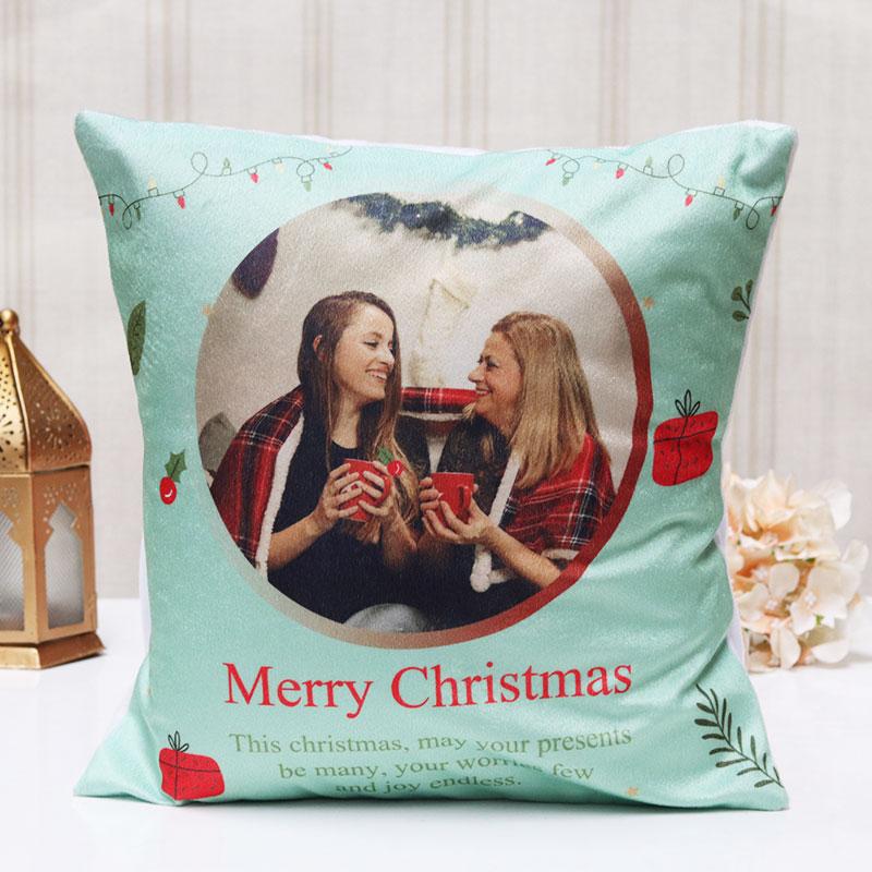 Personalised Merry Christmas Cushion