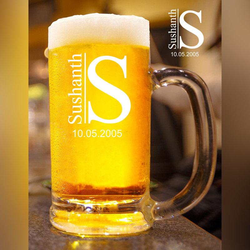 Personalised Classy Beer Mug