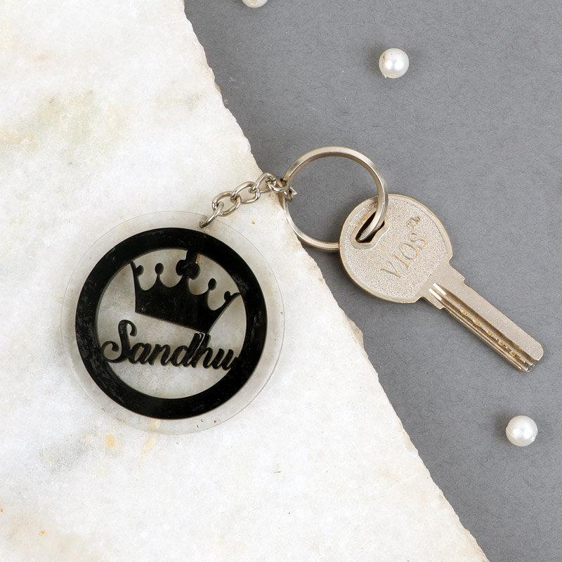 Personalised Crown Keyring