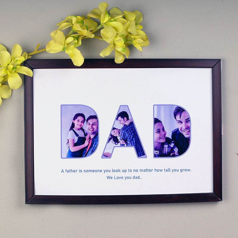 Fathers Photo Frame Gift For Dad