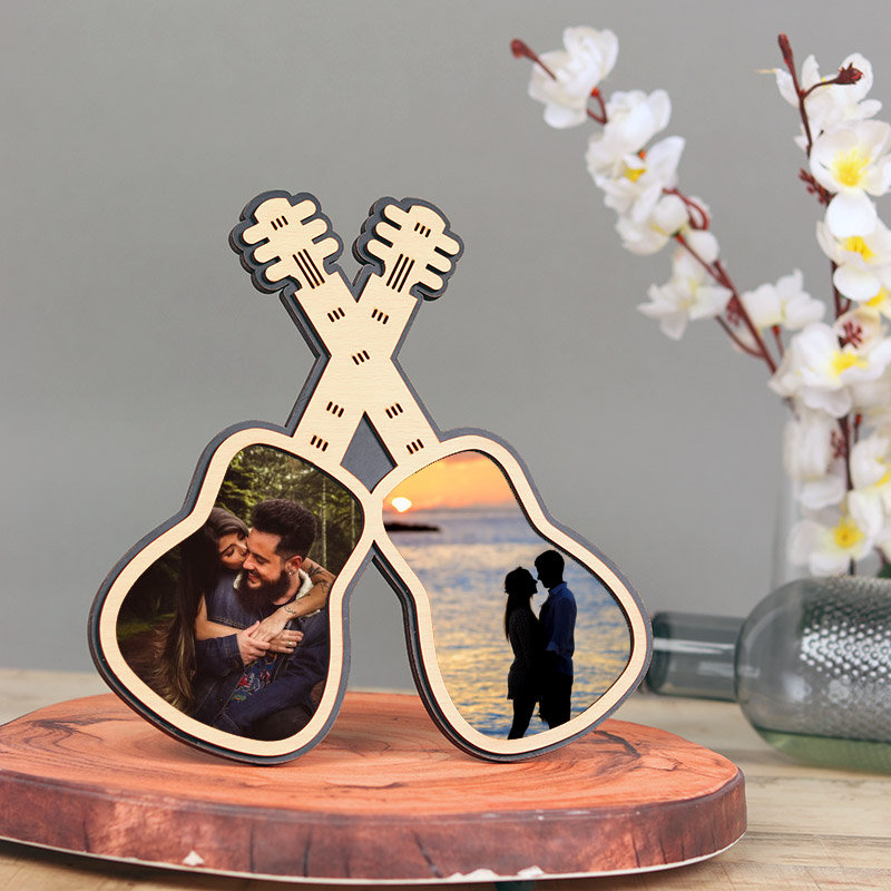 Personalised Double Guitar Miniature