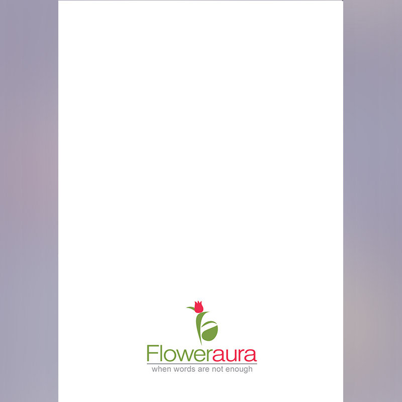 White Blank Note for Personalised E-Greeting Cards