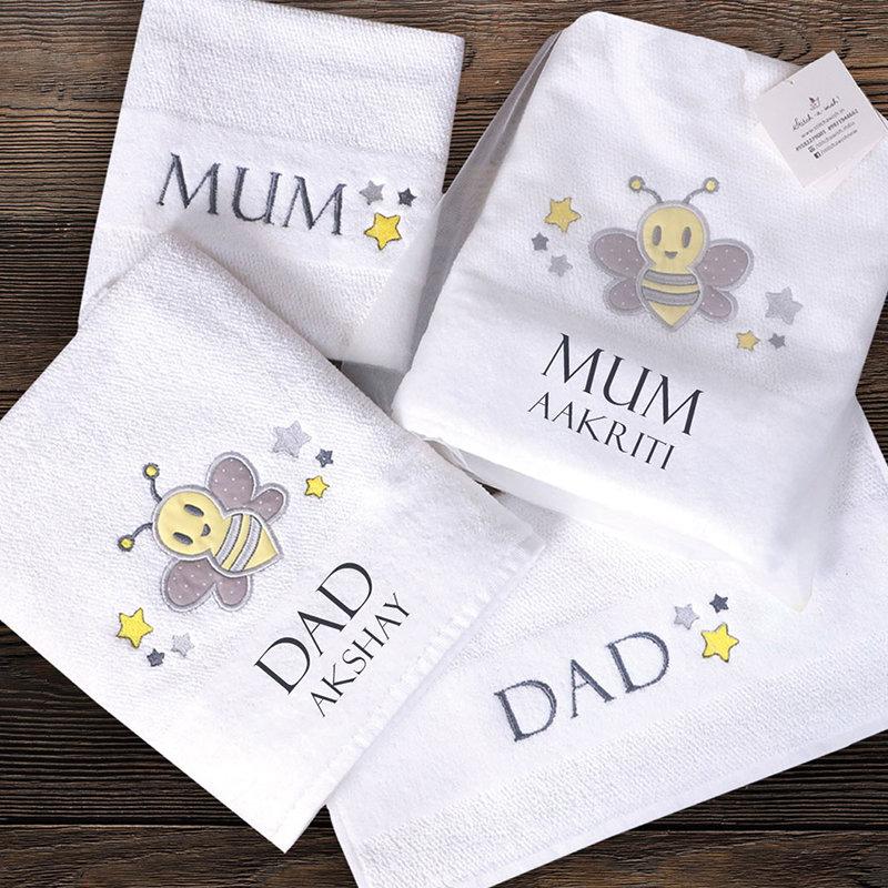 Personalised Family Bath Towel Set