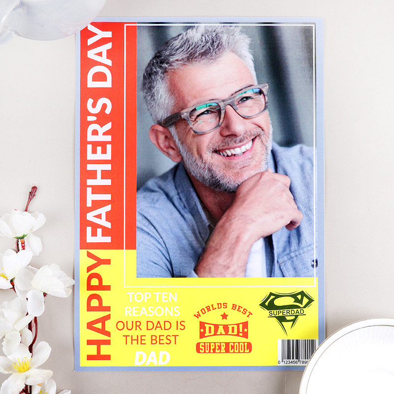 Personalised Fathers Day Magazine Cover