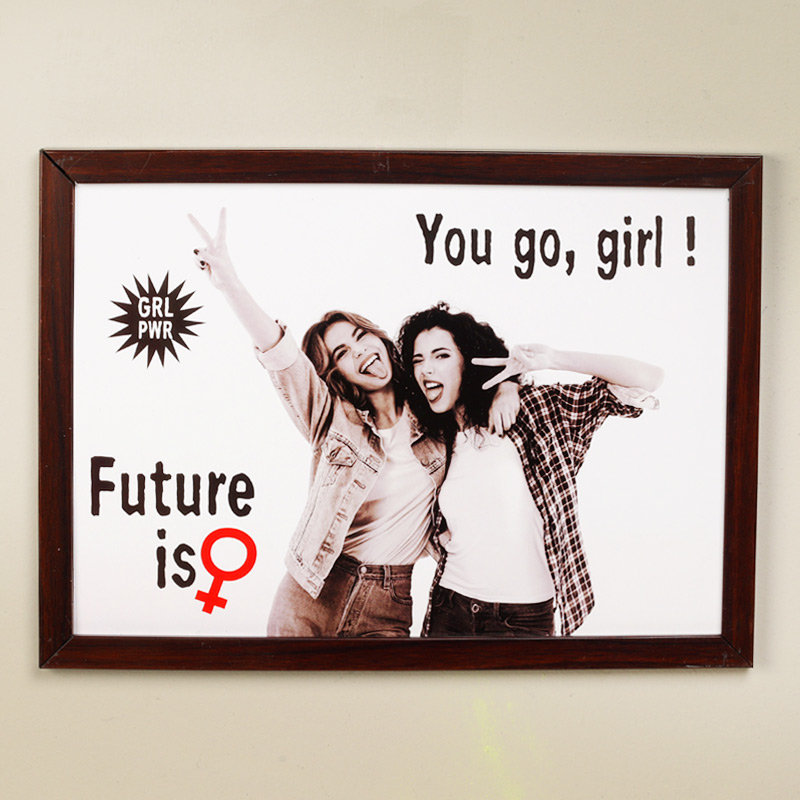 Personalised Go Girl Frame - Personalised Wall Frame