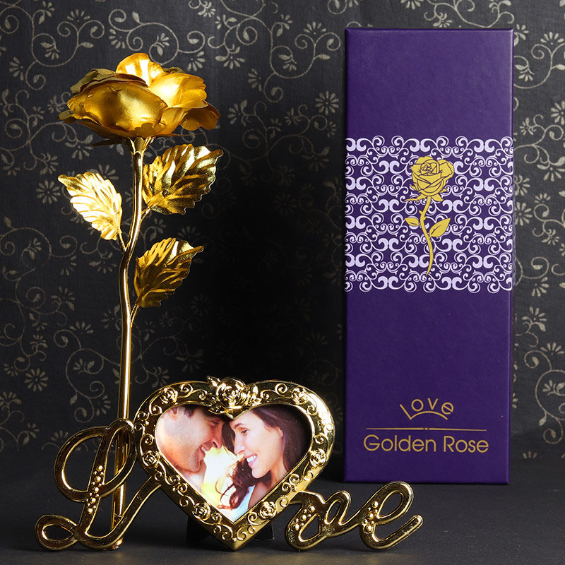 Personalised Golden Rose
