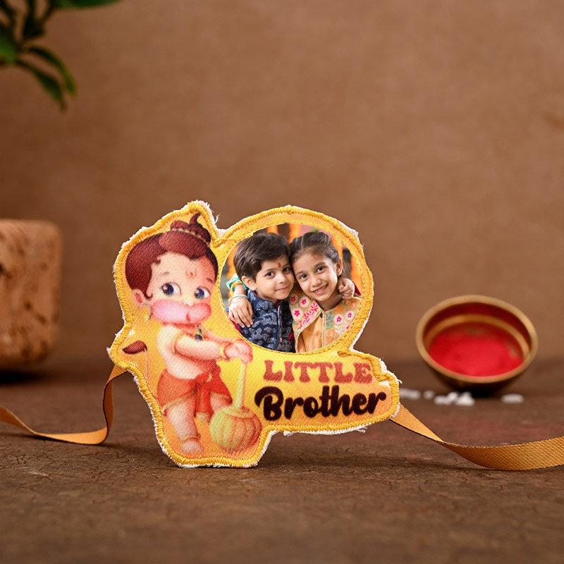 One Hanuman Personalised Rakhi - Personalised Hanuman Bro Rakhi