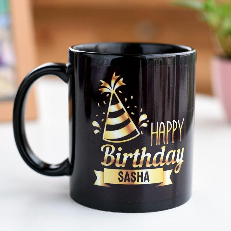 Personalised Happy Birthday Name Printed Mug
