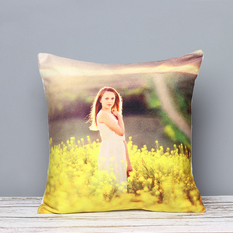 A Personalised LED Photo Cushion - Rakhi Gifts for Sister Online