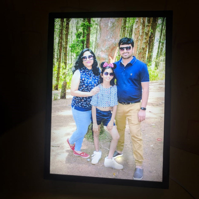 Personalised LED Photo Lamp - A4