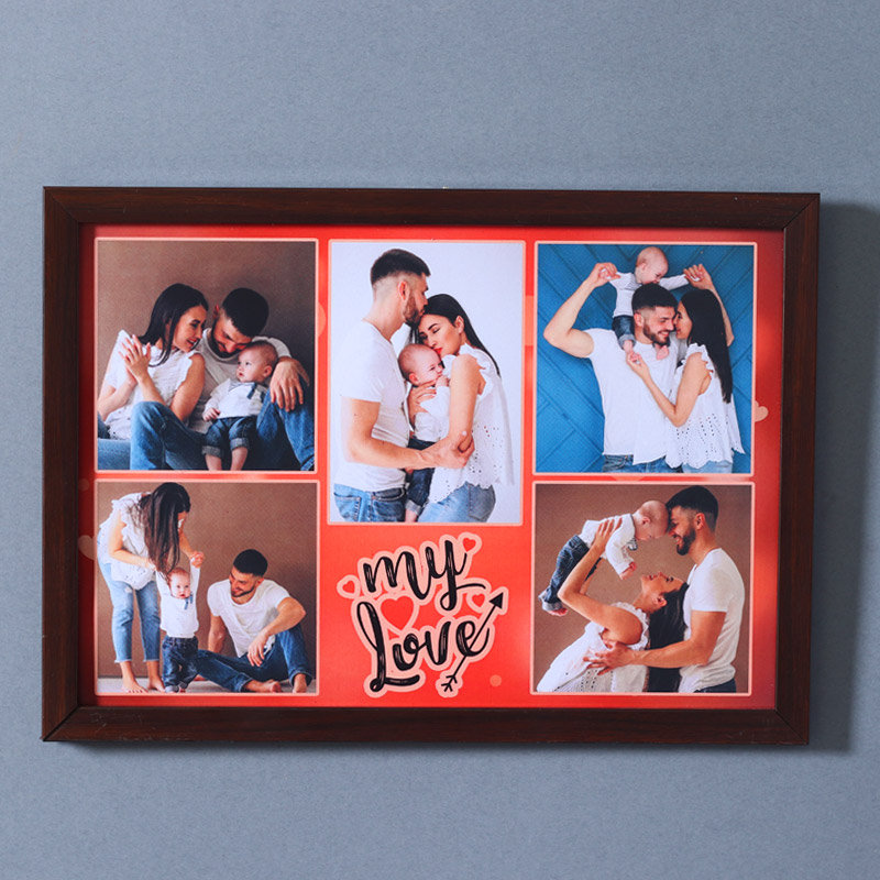 Wall Frame with Personalized Photos