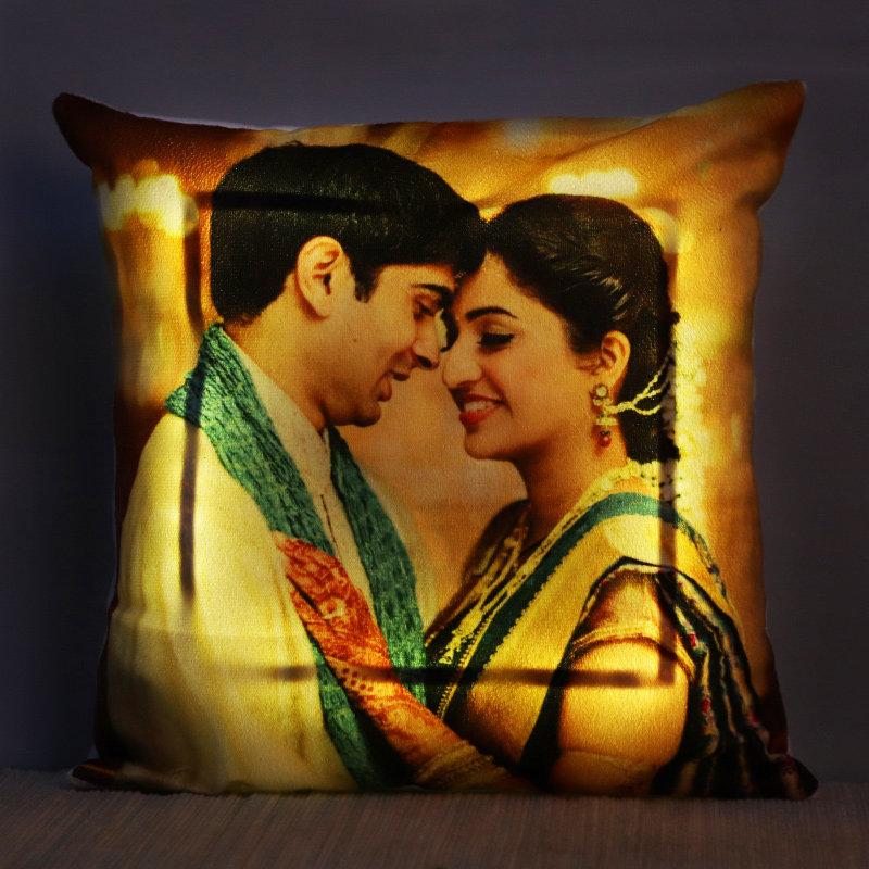 Personalised LED Photo Cushion