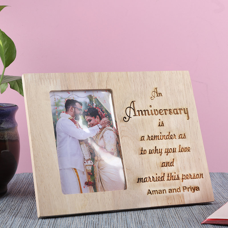 Personalised Engraved Frames For Anniversary