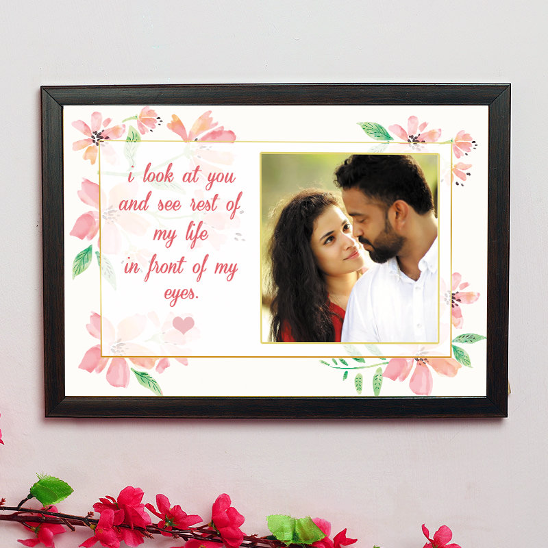 Personalised Message Frame - One Personalised Wall Frame