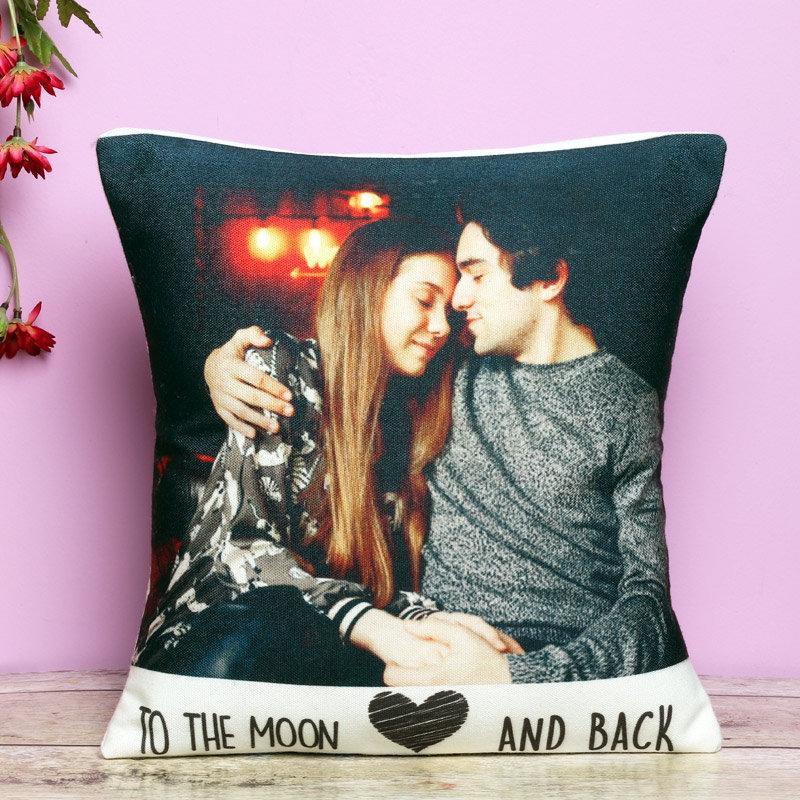 Personalised Moon Cushion - 12X12 Inch Personalised Cushion