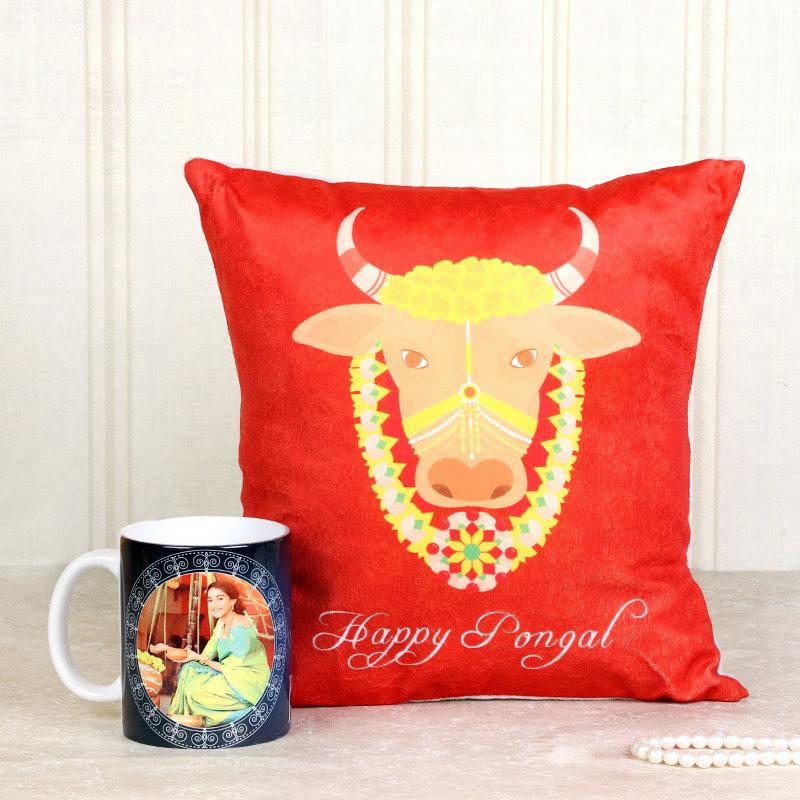Personalised Mug And Cushion Set