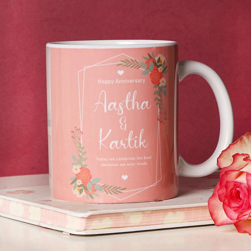 Personalised mug of love - One Personalised Ceramic Mug - Size: Height 4'' & Diameter 3'' (350ml)