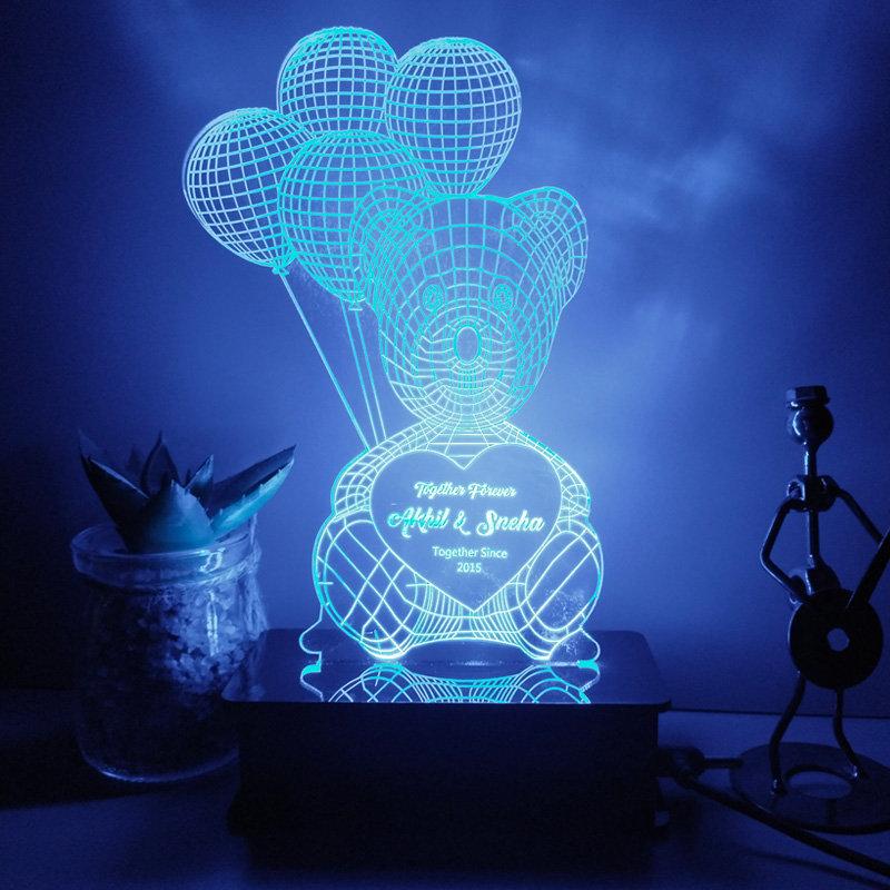 Personalised Multicoloured Lamp
