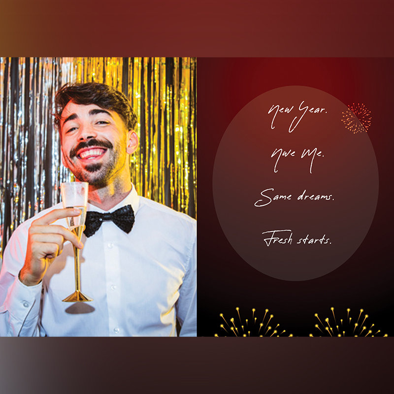 Personalised New Year Greeting Card