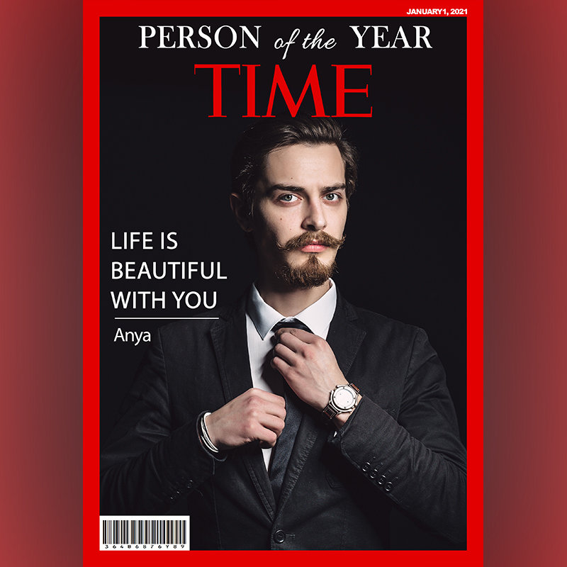 Personalised New Year Magazine Cover