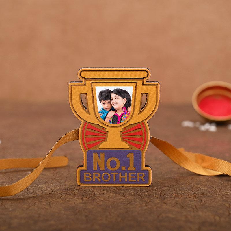 Personalised No 1 Bro Rakhi - One Personalised Rakhi