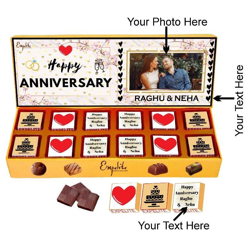 Personalised Parents Anniversary Chocos