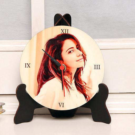 Personalised Table Clock in Circular Shape