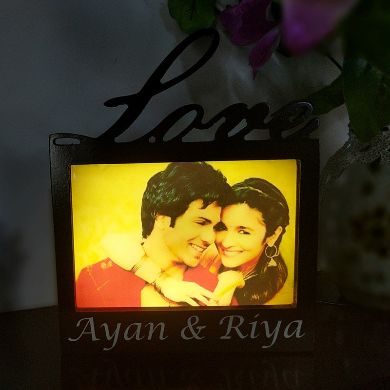 Attractive Love Photo Frame Lamp