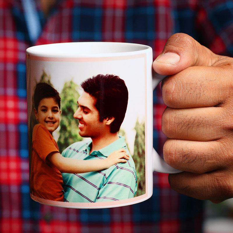 Side View of Bhaiya Bhabhi Rakhi with Personalised Mugs