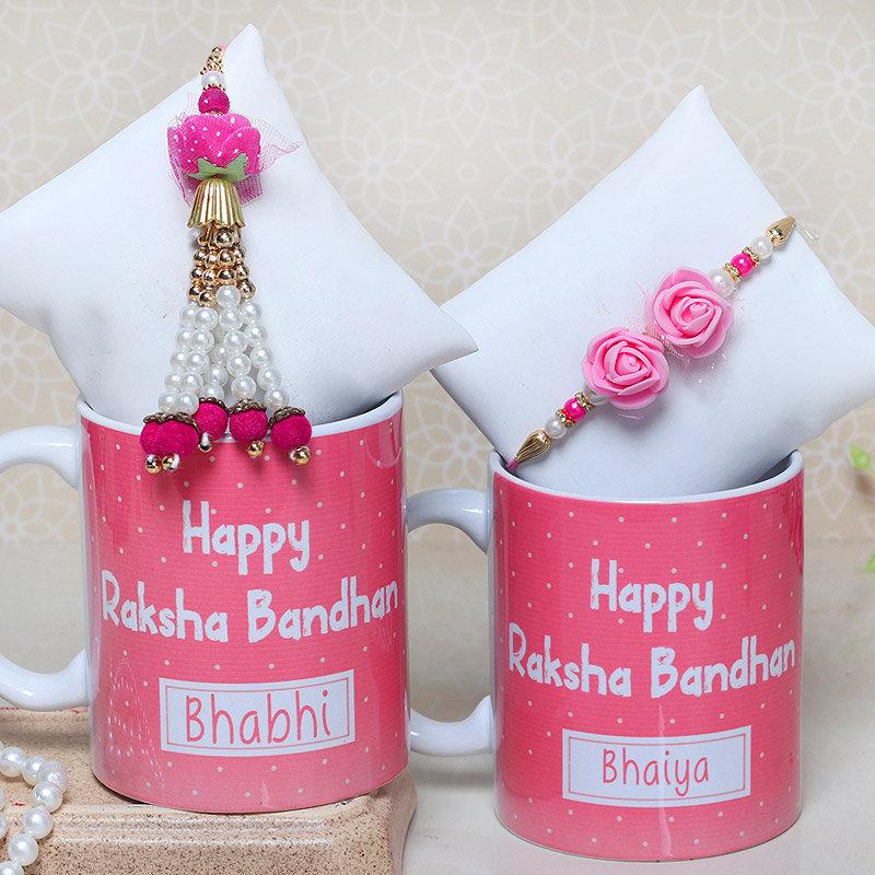 Bhaiya Bhabhi Rakhi with Personalised Mugs