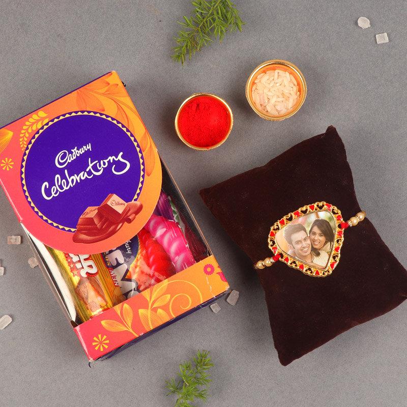 Personalised Rakhi N Celebrations Box