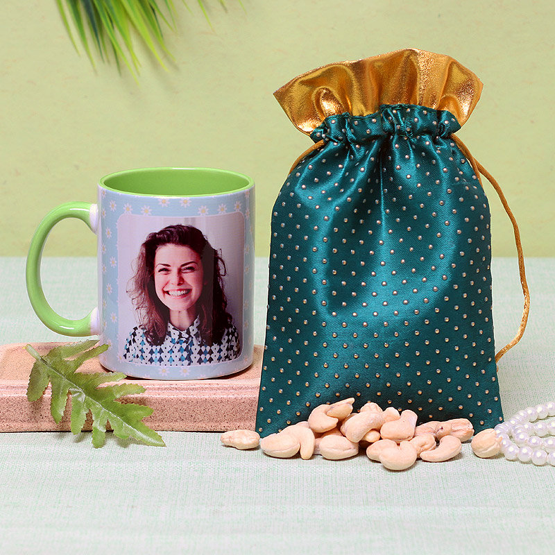 Personalised Mug and Dry Fruits for Sister