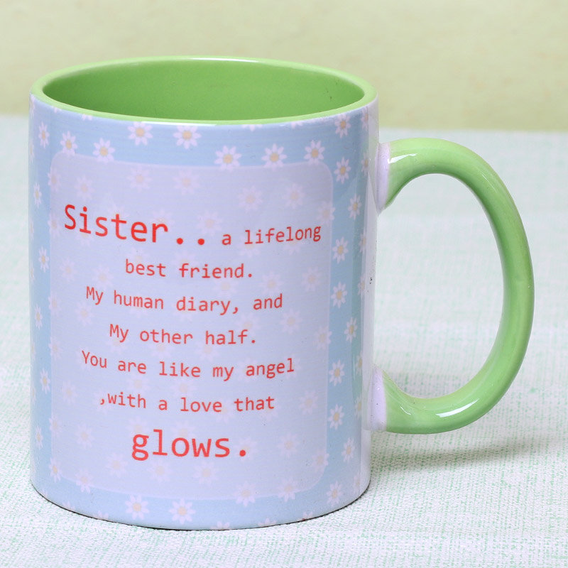 Personalised Mug and Dry Fruits for Sister - Rakhi Gifts for Sister Online