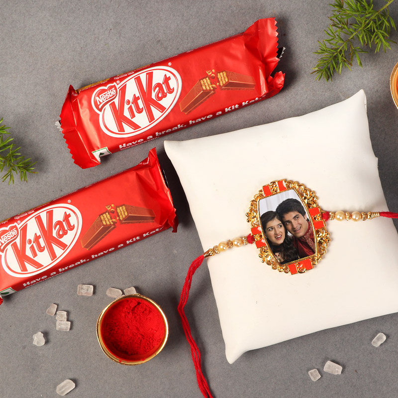 Personalised Rakhi With Kitkat