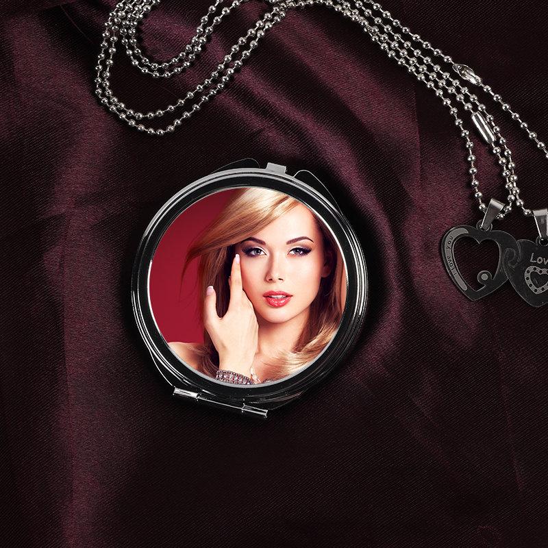 Personalised Round Pocket Mirror