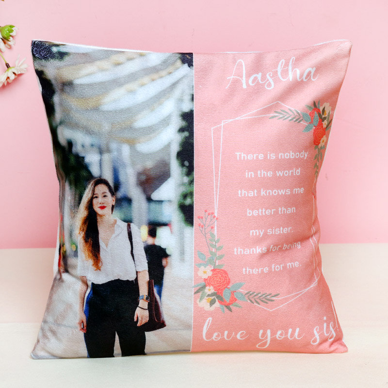 Personalised Cushion for Sister