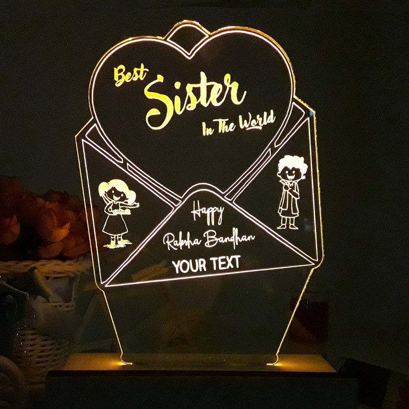 Personalised Sister LED Lamp