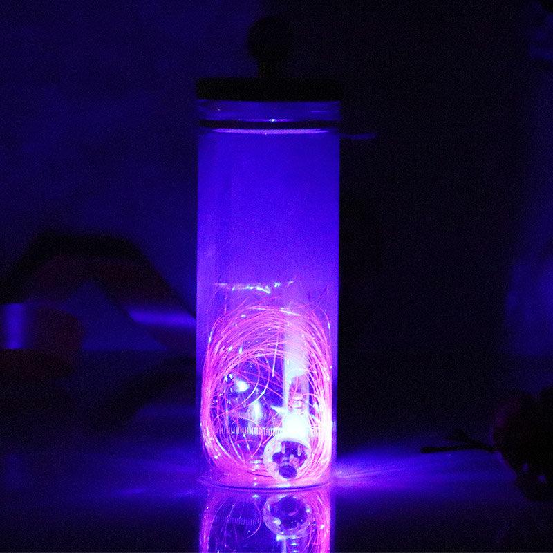 Valentines Gift Ideas - Scroll Starry Night Glass Bottle