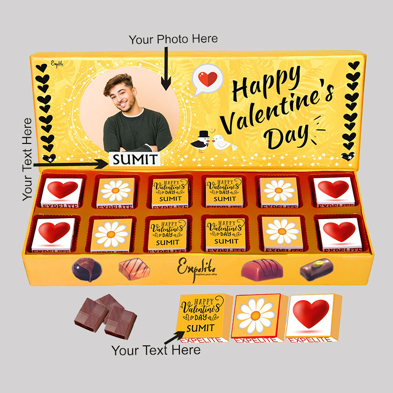 Personalised Valentines Day Choco Box