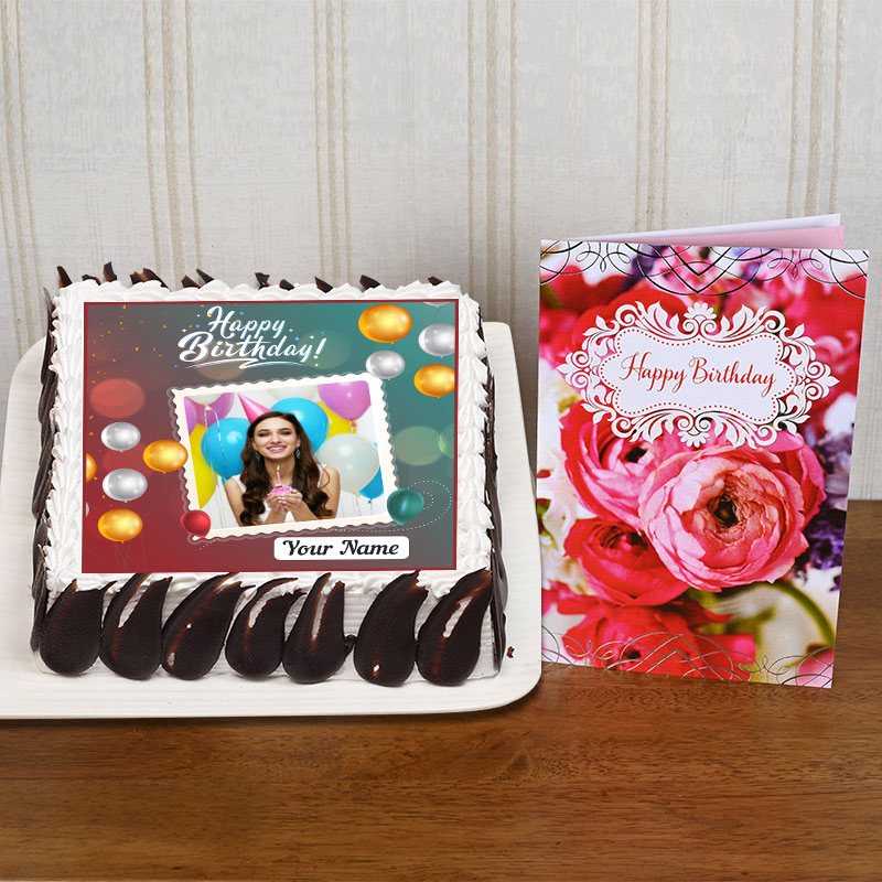 Personalized Birthday Cake And Card