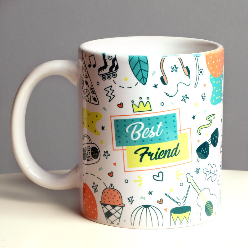 Personalized Doodle Mug For Best Friend - A Birthday Gift