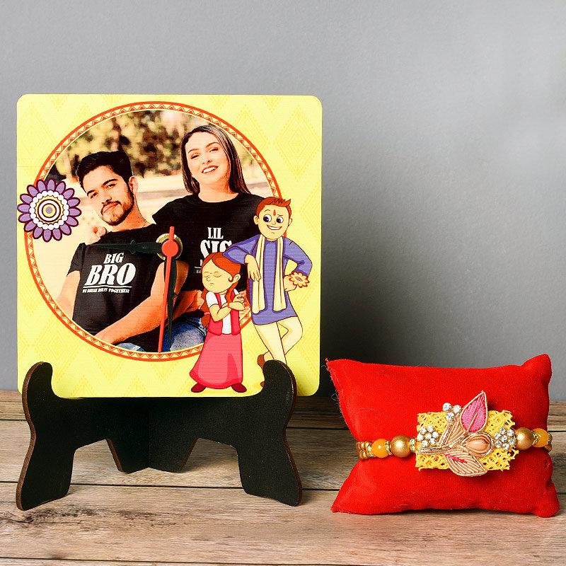 Personalized Rakhi Combo Set