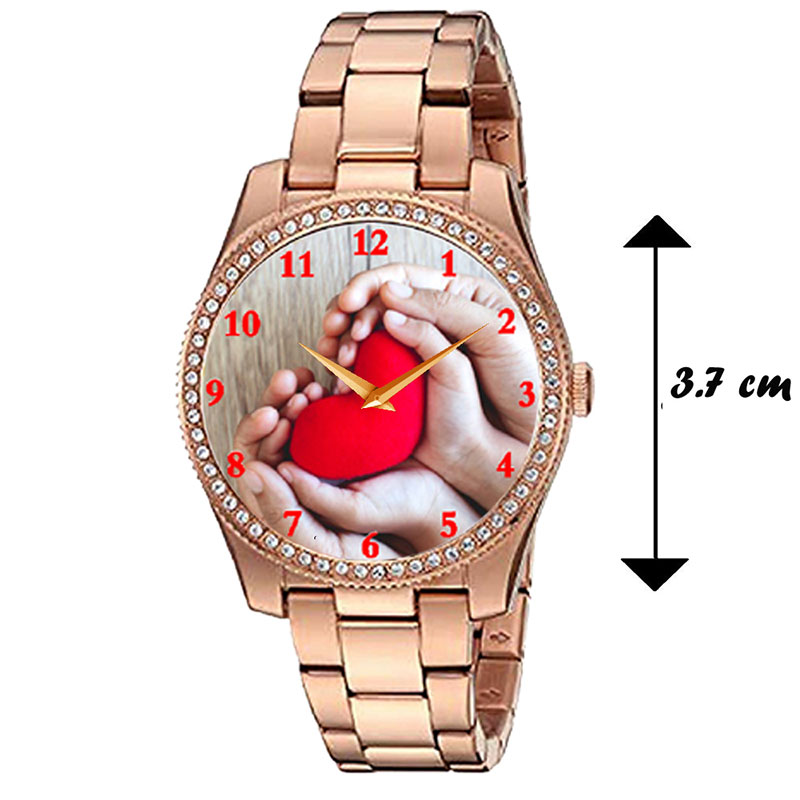 Dimension of Gold Personalised Watch for Women