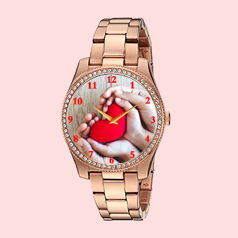 Gold Personalised Watch for Women