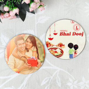 Photo Bhai Dooj Coasters