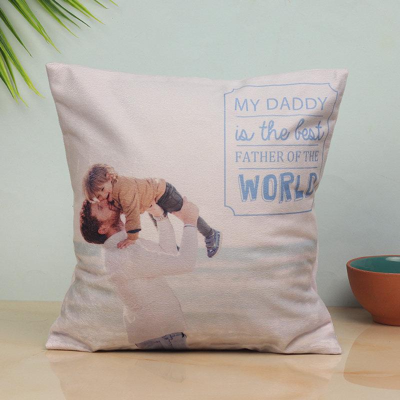 Son and Dad Photo Cushion